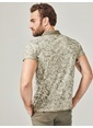 Xint Polo Yaka Desenli Tişört Haki